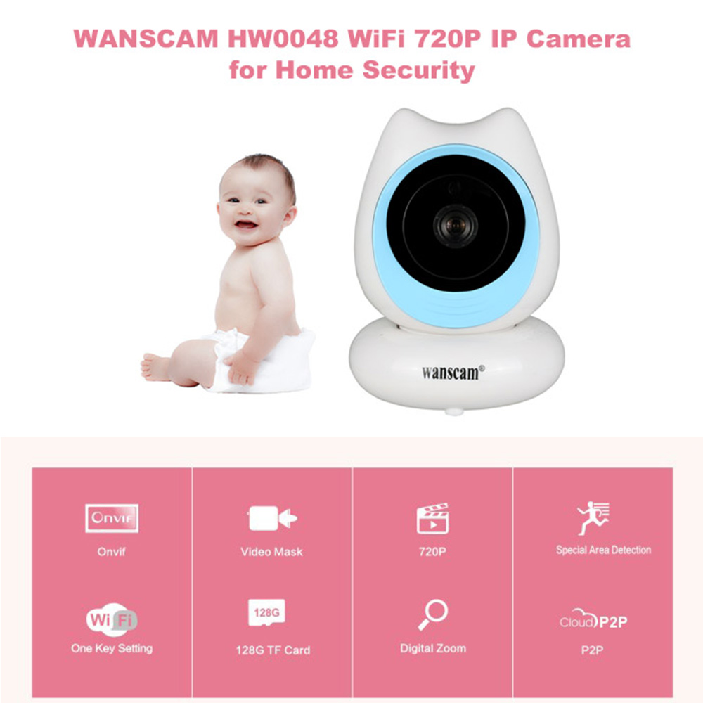 WANSCAM HW0048 Wifi HD IP Camera Waterproof Home Security IR Infrared Camera Wi-fi Wireless Video Surveillance Camera Network hd 720p wireless ip camera wifi onvif 2 0 4 video surveillance security cctv network wi fi camera infrared ir and with ir cut