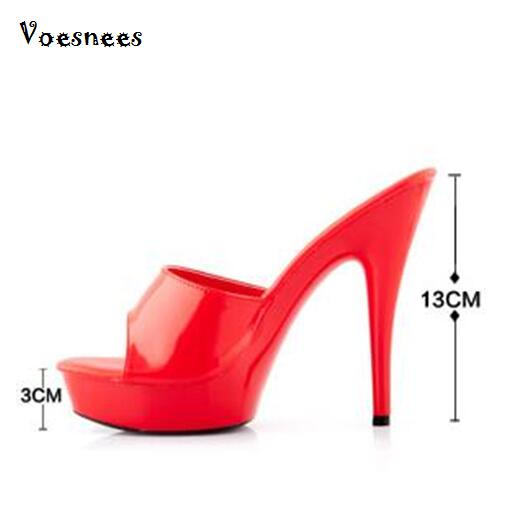 Woman Wedding Shoes Sandals 2016 Nightclub Sexy High heeled Shoes Slippers Fine With Platform Sandal Heel High15cm Summer Pumps