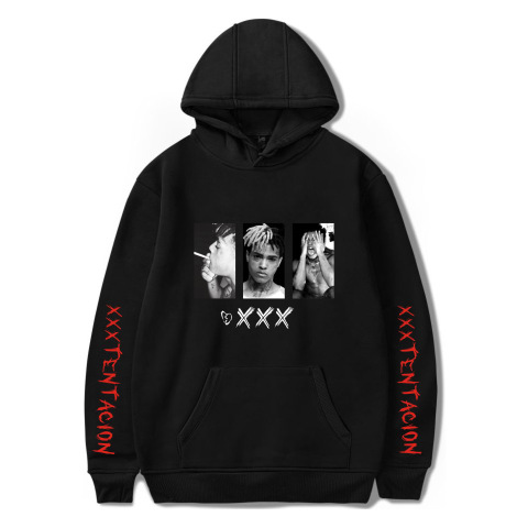 WBDDT Xxxtentacion Hoodies Men Belt Pullover Front Pocket Streetwear Cotton Sweatshirt Hip Hop Outerwear Drop Shipping Pakistan