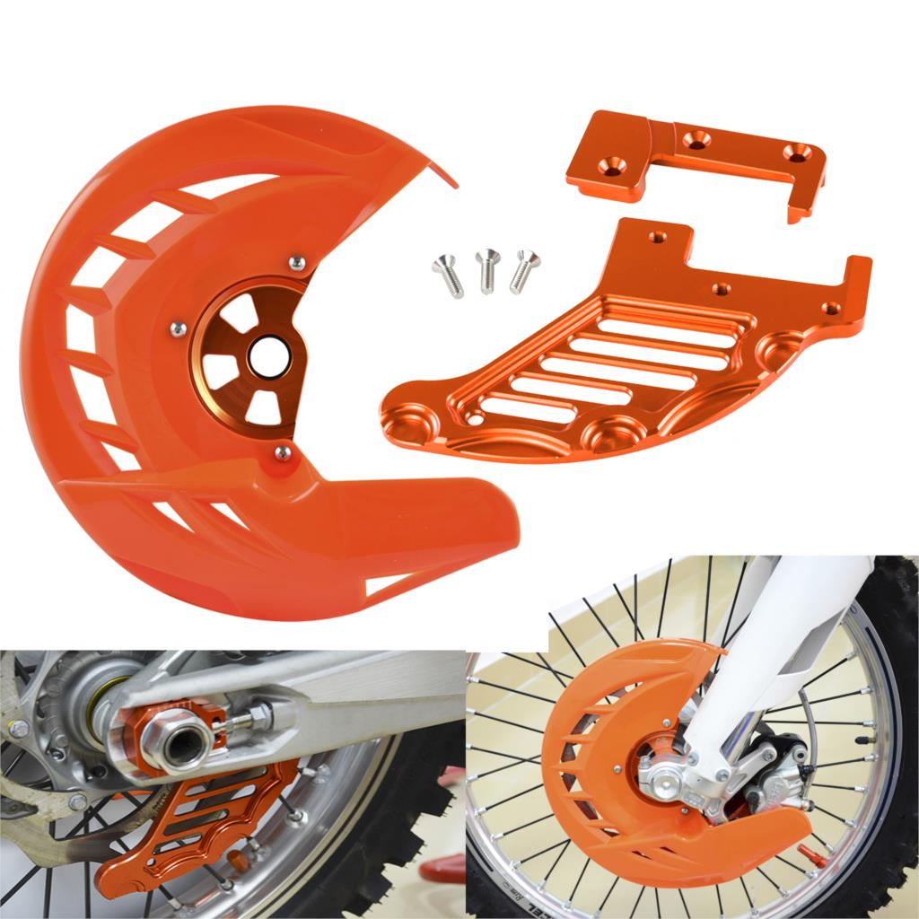 Front & Rear Brake Disc Guard Protector For <font><b>KTM</b></font> 125 200 250 <font><b>300</b></font> 350 450 500 530 SX SXF XC XCF 15-19 EXC EXCF 2016 2017 2018 <font><b>2019</b></font> image
