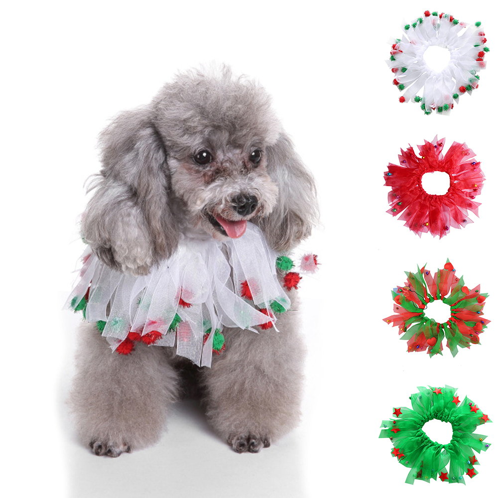 New Cute Christmas Festive Pet Dog Cat Collar Puppy Grooming Neck Bowties Dog Bow Ties Pet Jewelry Accessor Christmas Gift