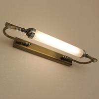 Европейский зеркало спереди лампа для ванной комнаты зеркало настенные светильники Ретро тщеславия Длинные водонепроницаемый анти-туман ...