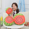 1 unid Kawaii frutas juguetes de peluche de felpa sandía y Kiwi fruta redonda almohada cojín bonito regalo para las niñas sofá decoración niños Doll