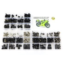 Motorcycle Accessories Fairing Bolts Kits Fit For Kawasaki ZX 6R ZX-6R ZX-6RR ZX 6RR 2007-2008 Washer Nuts Fastener Clips Steel