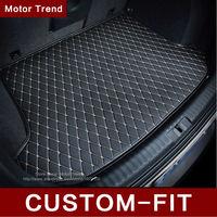 Custom fit car trunk mat for Land Rover Discovery 3/4 freelander 2 Sport Range Rover Sport Evoque car styling carpet cargo liner