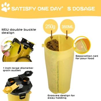2 In 1 di Sicurezza di Corsa Dell'animale Domestico Drink Bottiglia di Acqua Pieghevole Del Cane Ciotola Mangimi Alimentatore Del Cane Tazza Tazza di Corsa All'aperto 1
