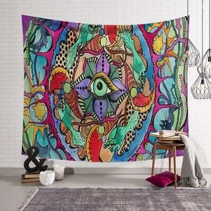 Image 3 - Polyester Hippie Mandala motif tapisserie abstraite peinture Art tenture murale Gobelin salon décor artisanat tapisseries GT0024