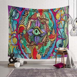 Image 3 - Polyster Hippie Mandala Pattern Tapestry Abstract Painting Art Wall Hanging Gobelin Living room Decor Crafts  Tapestries GT0024