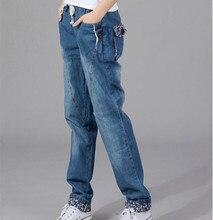 2016 новый шнурок свободного покроя джинсы женщин мода джинсовые длинные шаровары брюки женские синие джинсы женщина бойфренд джинсы для женщин