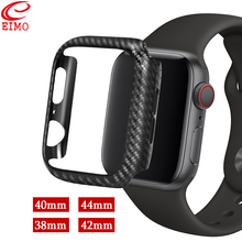 Carbon Fiber Case For Apple Watch 4 3 iWatch band 42mm 38mm 44mm 40mm bumper Protective PC Ultra Thin Lines shell Frame cover ultra thin protective abs bumper frame for iphone 5 green