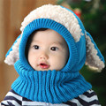 Cute Winter Beanie Baby Kids Boy&Girl Warm Hat hooded Scarf Earflap Knitted Wool Christmas Photography Props