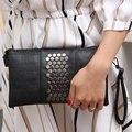 3 Colors Women's PU Leather Handbags Purse Shoulder Bags Messenger Bags Day Clutch with Long Strap Rivet Handbags Designer