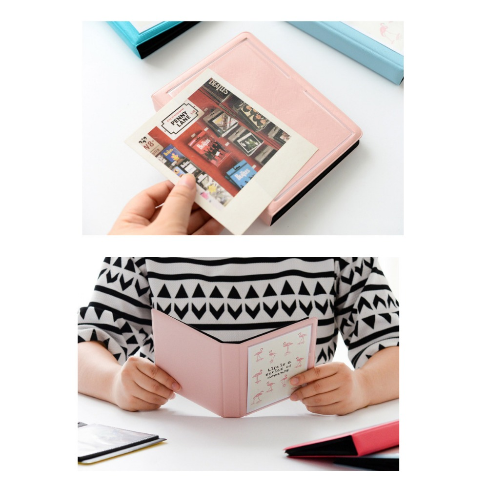Image 3 - 32 Pockets Colorful Flamingo Mini Photo Album Picture Case Storage for 5 Inch Photo / Instax WIDE Film-in Camera/Video Bags from Consumer Electronics