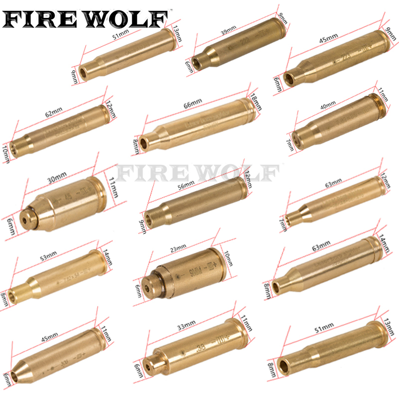 Hunting Red Laser Boresighter CAL.308 .45 .38 .30 CAL 7mm 8mm 9mm CAL.303 300 30-30WIN Cartridge Tactical Bore Sighter