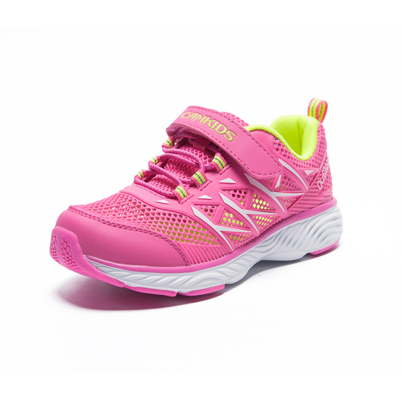 CAMKIDS Sneaker Girls Breathable Casual Shoes Hook &Loop Children's Shoes Anti-slippery Kids Shoe Girl Bright Pink Tollder Shoes цена