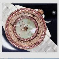 Melissa Элитный бренд Для женщин полный Керамика браслет часы перемещение Кристалл пески ювелирные часы основа Япония кварцевые наручные часы