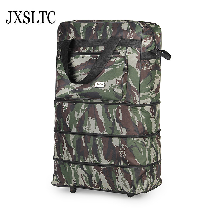 Suitcases on Wheels Road Air Shipping Folding Luggage Bag Large Capacity Spinner Wheel Move Travel Bags Luggage Trolley Bag