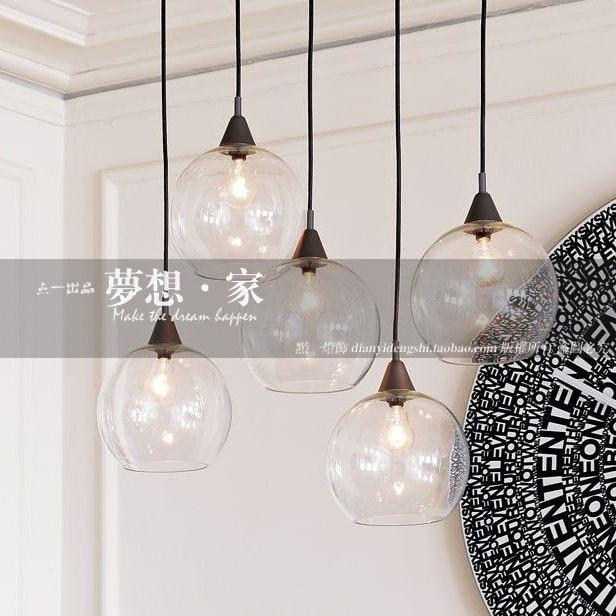 glazen bol restaurant lamp eettafel bar verlichting moderne korte persoonlijkheid hanglampen