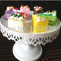 Diameter 20 High 15cm European Style Wedding White Heartshaped Cake Tray Iron Tall Cupcake