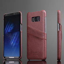 For Samsung Galaxy S8 Plus phone case phone case leather lychee pattern card rear Case Galaxy S8 Plus protective case leather