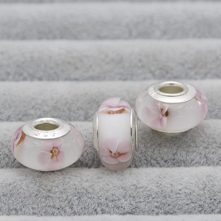 925 Sterling SilvMurano Glass Bead Fit Original Pandora Charms bead for women Bracelet
