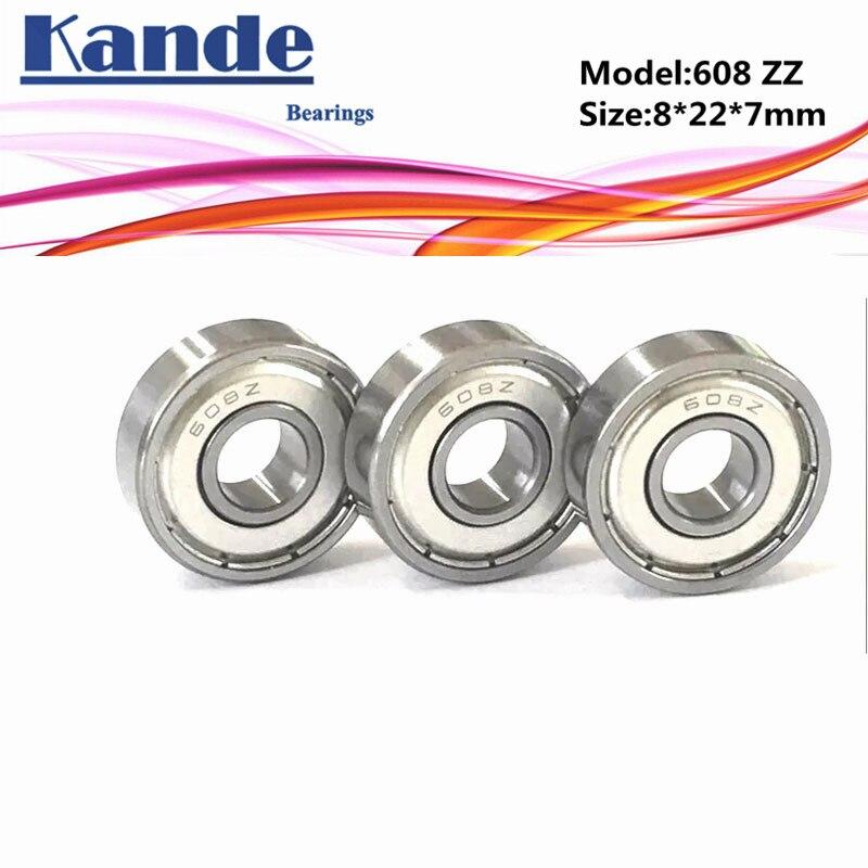 Kande Bearings 608 ABEC-1 608-2Z ABEC-3 608ZZ ABEC-5 P5 608 ZZ Miniature Ball Bearing 8x22x7mm 608Z 608 ZZ