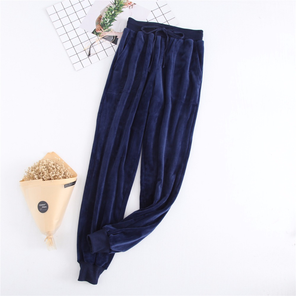 Home Pants For Women Winter Flannel Pyjama Trousers Women Pajama Pants Lounge Wear Ladies Sleeping Pants M-XXL