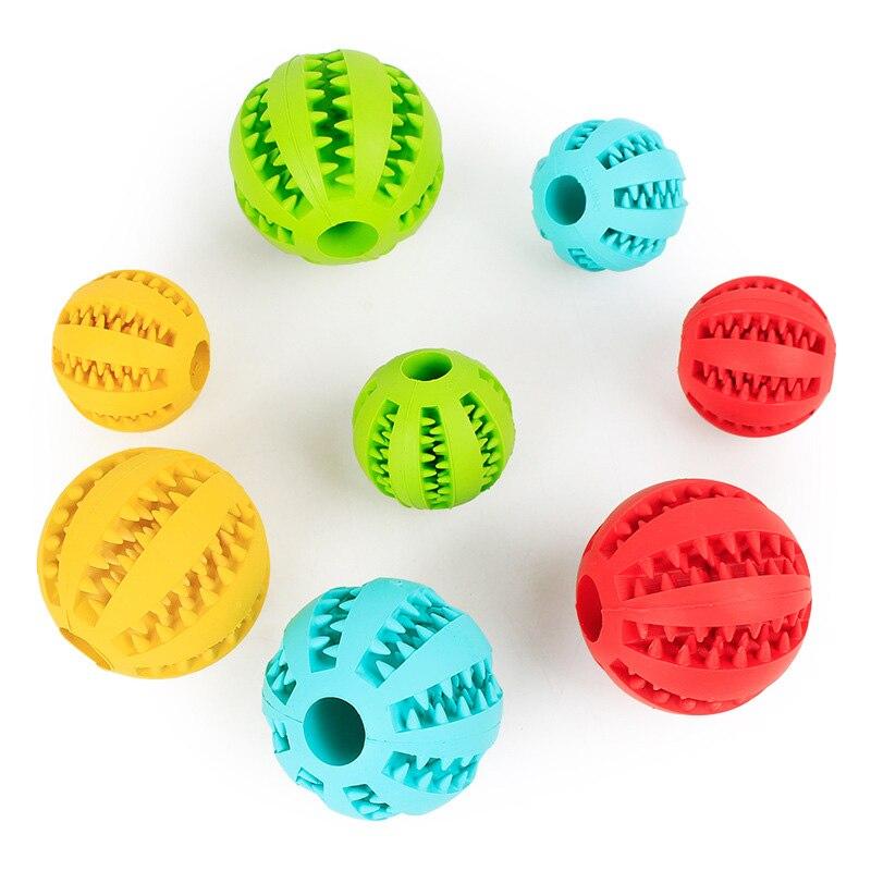 Мягкие игрушки для собак, Забавный интерактивный эластичный шарик, игрушка для жевания собак, мяч для чистки зубов, очень жесткий резиновый мяч для собак-1