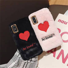 Furry Embroidery For Iphone 6 6s 7 8P X Xs Xr Max Simple Fashion Embroidered Phone Case
