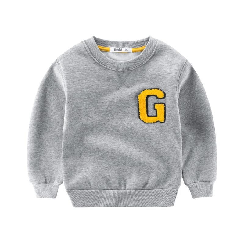 Winter Boys Sweatshirt Warm Kids Clothes Long Sleeve T