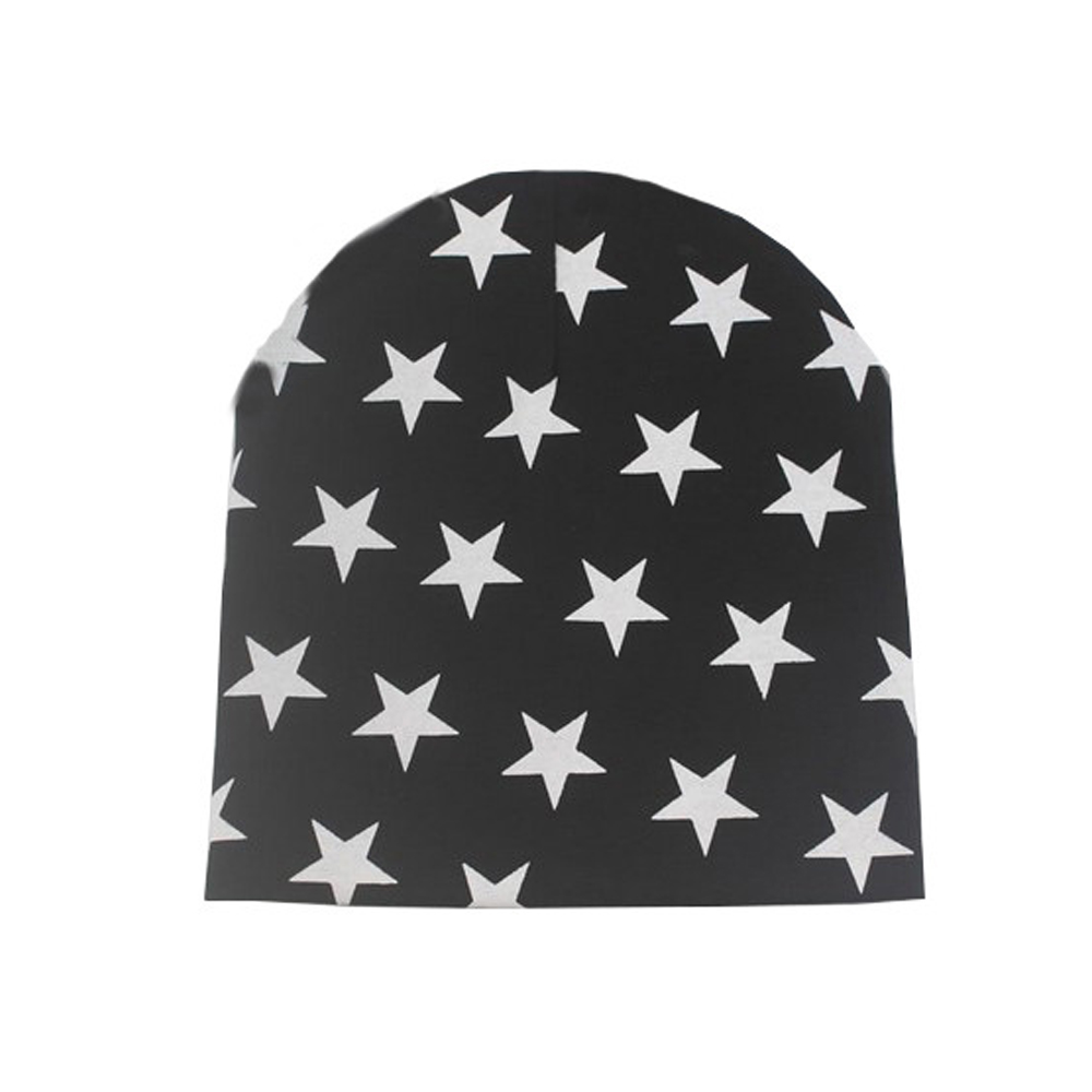 WomensDate 2016 Autumn Winter Hot Sale 1Pcs Black 100% Cotton Knitted Hat Baby Cap Star Infant Toddlers Crochet Beanies Girl Hat кашпо cozies l keter