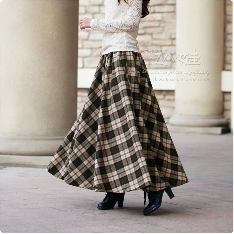 33f6c3c89 Online Shop Free Shipping Top Sale New Vintage English Style  Cotton&Polyester Girls Skirt Elasticated Skirts | Aliexpress Mobile