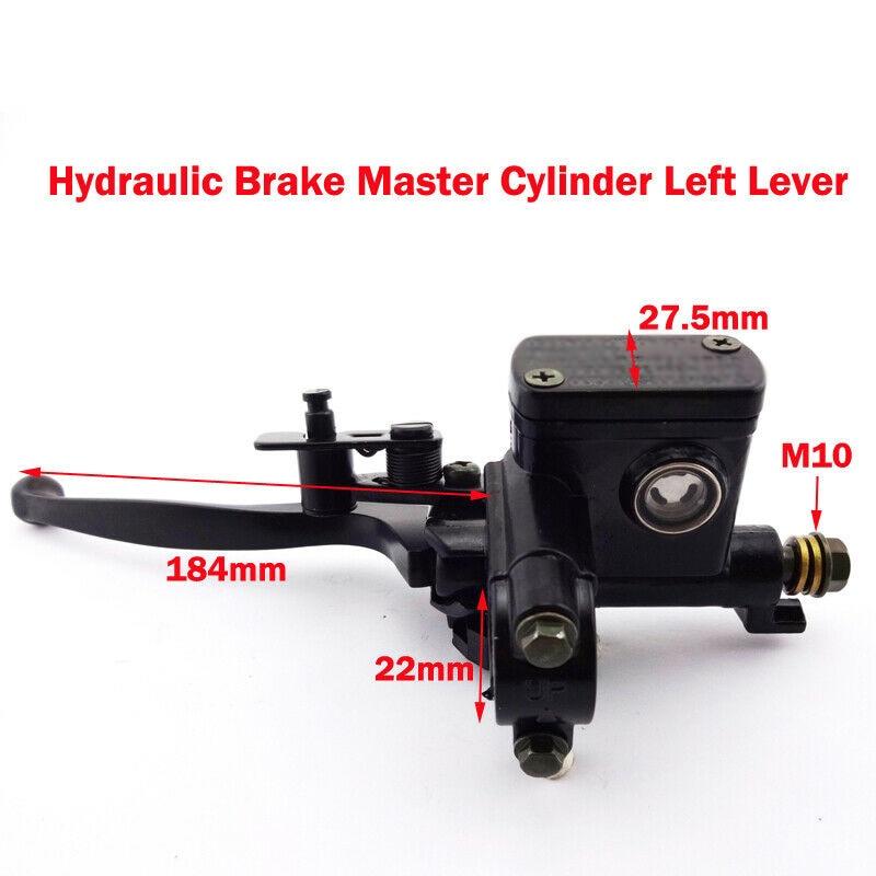 Left Hand Hydraulic Brake  Cylinder Handle Lever Fit 50CC~250CC ATV Part Kit