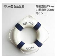 Mediterranean style lifebuoy foam swim ring ornament Creative mare lifebuoy wall decor