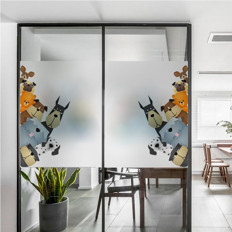 Cute Women Glass Sticker Waterproof Opaque Film Static Mural Window Home Decor