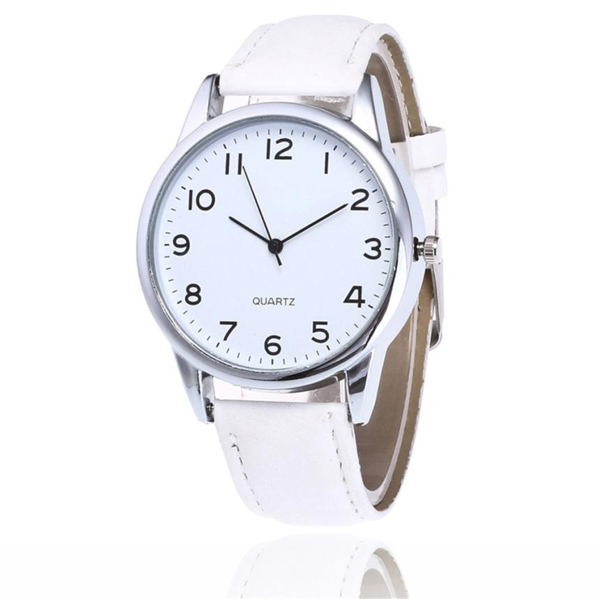 Dropshipping High Quality Simple Dial Watch Men Women Leather Waterproof Wristwatch Women Dress Fashion Quartz Movement Saat #DDropshipping High Quality Simple Dial Watch Men Women Leather Waterproof Wristwatch Women Dress Fashion Quartz Movement Saat #D