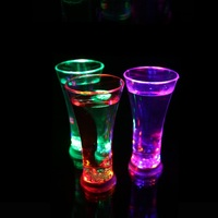 1PC Funny Drinkware Rainbow Color Cup Flashing LED Cup Inductive Light Water Mug Cool Drinks Beer