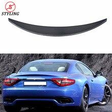 Для Maserati Gran Turismo Спорт GTS углеродного волокна задний спойлер задний бампер багажник крыло GTS сзади углерода спойлер Тюнинг автомобилей 2007- до