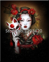 5D Diy Diamond Painting Cross Stitch kits Japanese woman Mosaic Full Rhinestones Embroidery Home Decoration