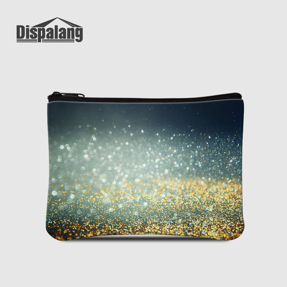 Dispalang Women Cute Wallet Stars Sands Design Coin Purse For Teenage Girls Galaxy Starry Lady Mini Clutch Top Quality Money Bag