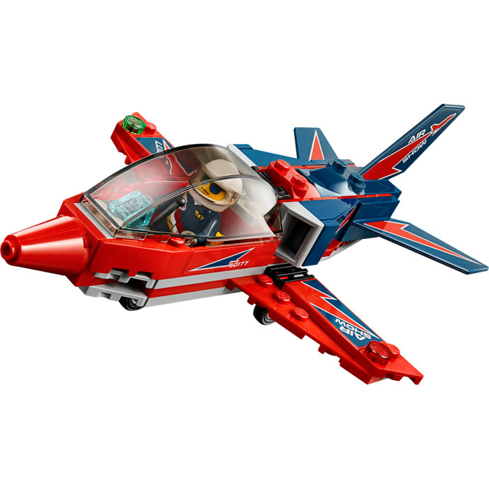 Lepin 02098 91pcs City Air Show Aerial Stunt Jet Plane Pilot  Building Blocks Education toys For Children Gift Compatible 60177 lepin 02012 city deepwater exploration vessel 60095 building blocks policeman toys children compatible with lego gift kid sets