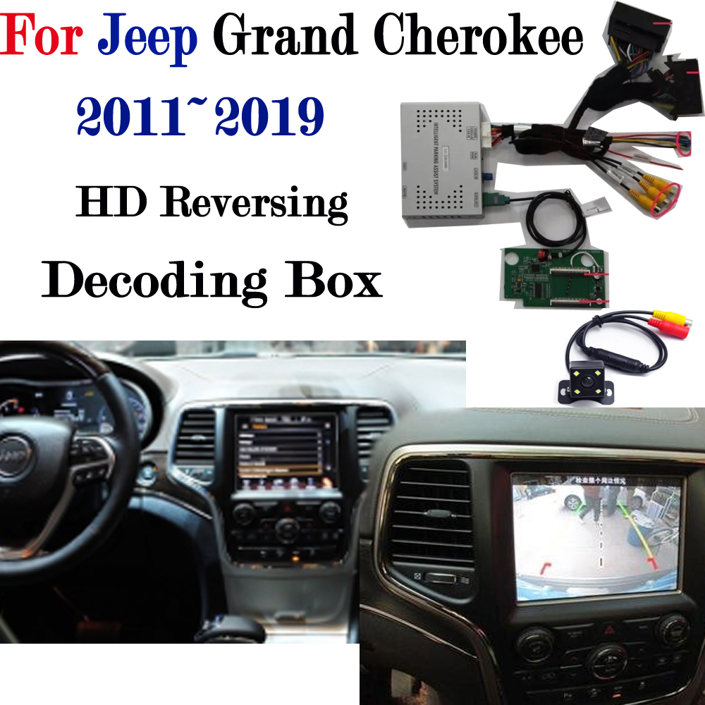 Front Reversing Camera For Jeep Grand Cherokee 2011~2019 Adapter Connect Original Screen Display Parking Rear Camera MMI Decoder 2019 jeep grand cherokee limited