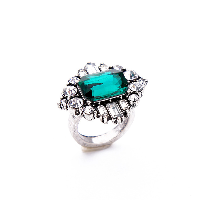 ORNAPEADIA Brand Light extravagant Ring elegant Retro Luxury inlaid green AAA Zircon top quality lady ring finger anillo