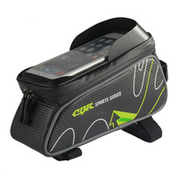6 Inch Waterproof Touch Screen Bicycle Bags Mountain Road Bike Top Front Tube Frame Bag Cycling