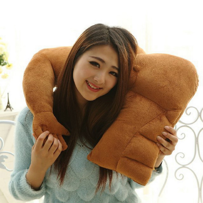 1Pcs New Hot-Sale Muscular boyfriend-arm-shape Neck Pillow Girlfriend Gift Travel Car Home Pillow Nap Pillow Health Care