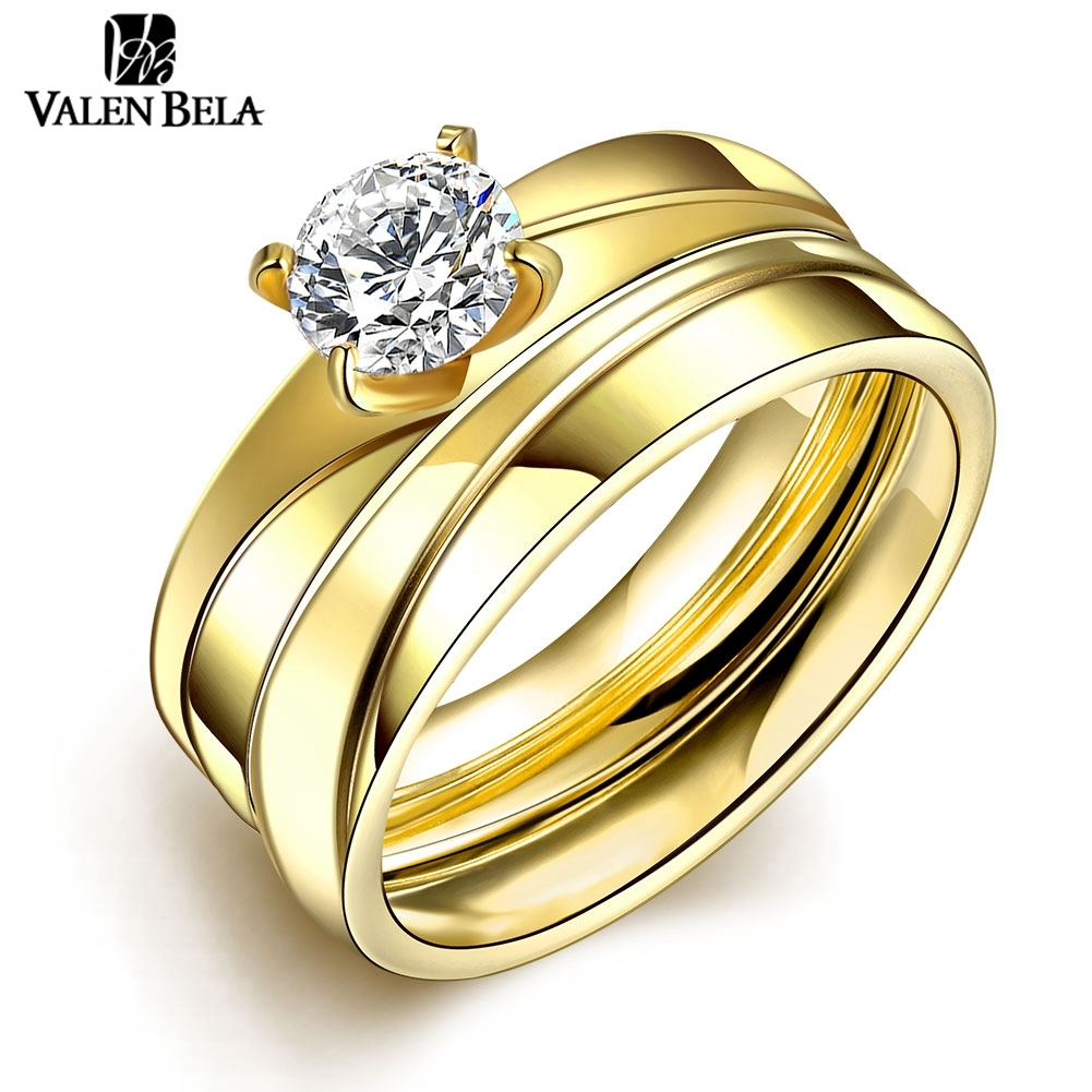 Velan Bela Wholesale Lady Woman Ring Jewelry Lots Fashion Titanium Steel  Korean Camouflage Wedding Rings Jewlery