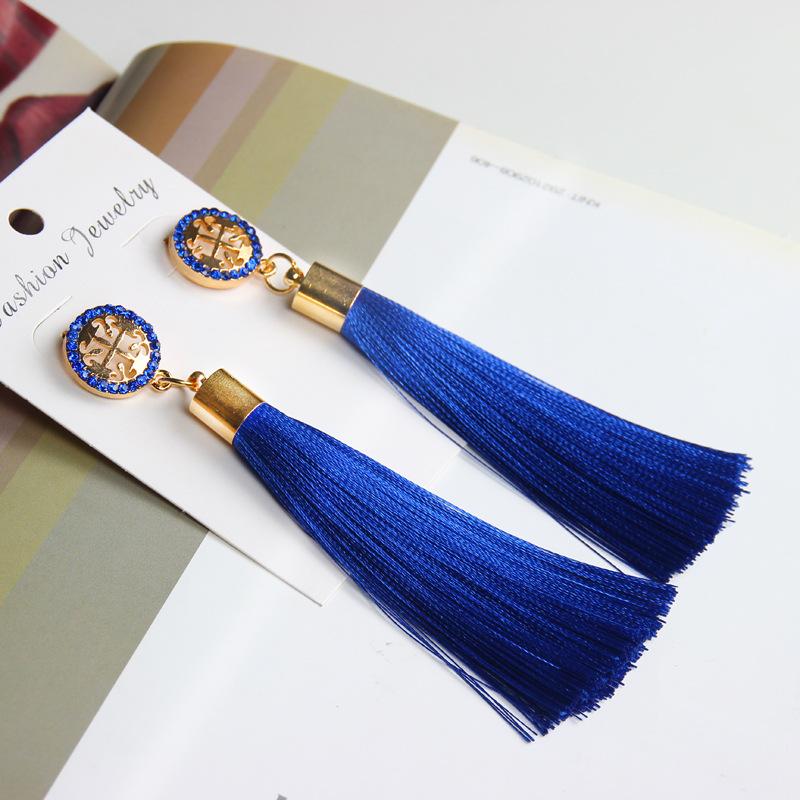 Exaggerated Rhinestone Long Tassel Earrings 2017 New Arrival Fashion Brincos Bijoux Crystal Dangle Earrings Women's Jewelry 11