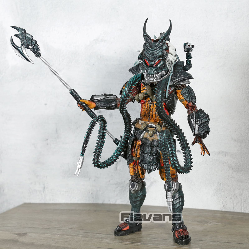 18CM Predator Clan Leader Alien Hunter Action Figure Ultimate Deluxe Collect NEW