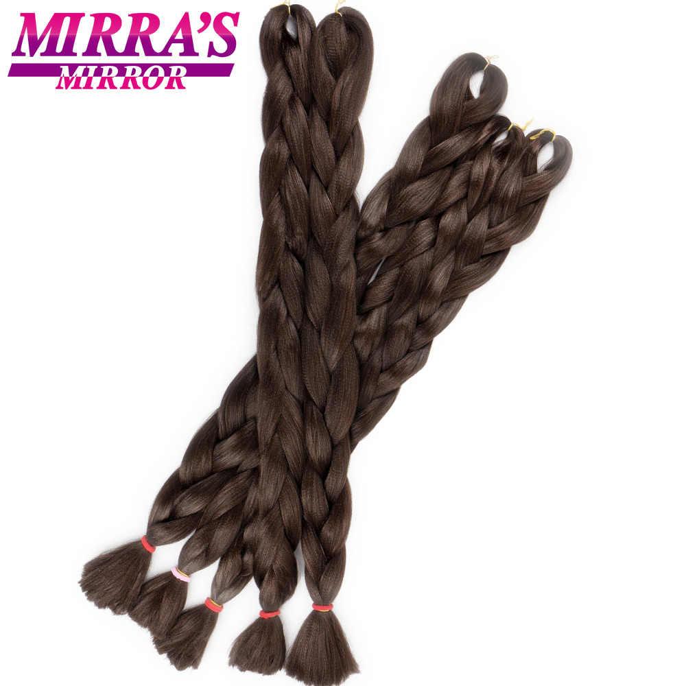 Mirra's espejo azul Jumbo cabello para trenzas Rosa sintético extensión cabello trenza color Crochet trenza cabello 82 pulgadas 165 g/paquete