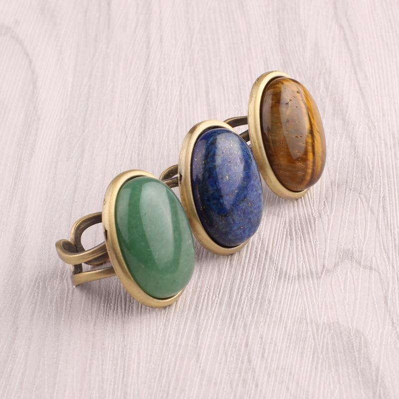 Fashion Unique Vintage Natural Stone Rings For Women